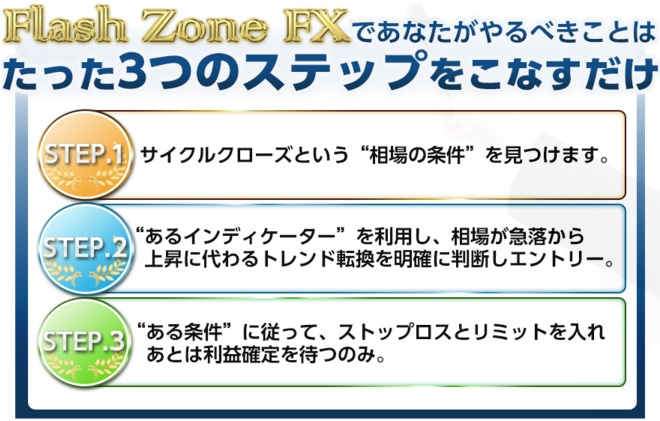 Flash Zone FX 3ステップ